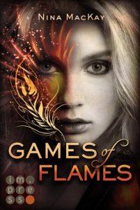 Games of Flames von Nina MacKay, erschienen bei Carlsen Impress